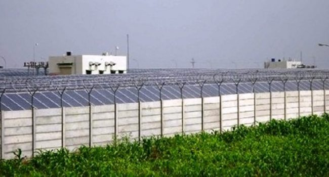 Solar Power Plant Boundary Wall in gurgaon